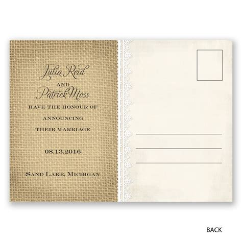 Wedding Invitation Announcement by Just Married Wedding Announcement Postcard Invitations
