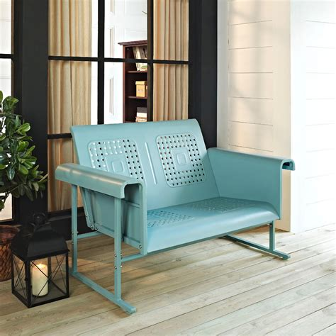 crosley outdoor veranda loveseat glider  assorted colors