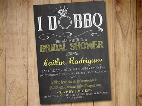 bridal shower barbeque invitations i do bbq bridal shower invitation template chalkboard