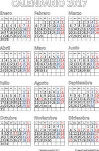 Calendario Laboral 2017 Pdf Calendario 2017 De Impresi 243 N Espa 241 Ol Imprimir El Pdf Gratis
