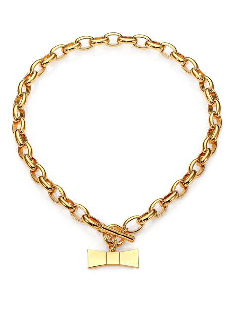 lyst kate spade new york hummingbird bow charm necklace