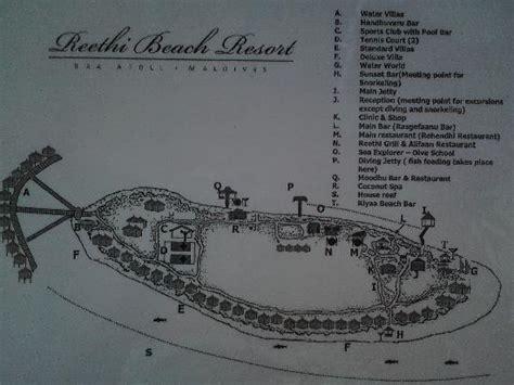 reethi island resort map water villas picture of reethi resort baa atoll