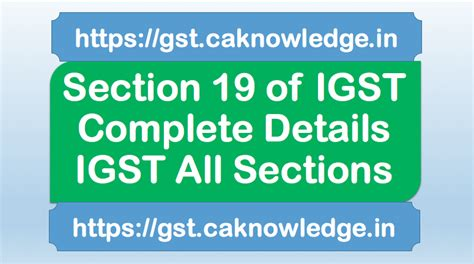 case laws of income tax section wise section 19 of igst tax wrongfully collected paid to