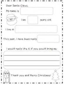 Preschool Letter To Santa Template 1000 Images About 1st Grade Writing On Pinterest Writer