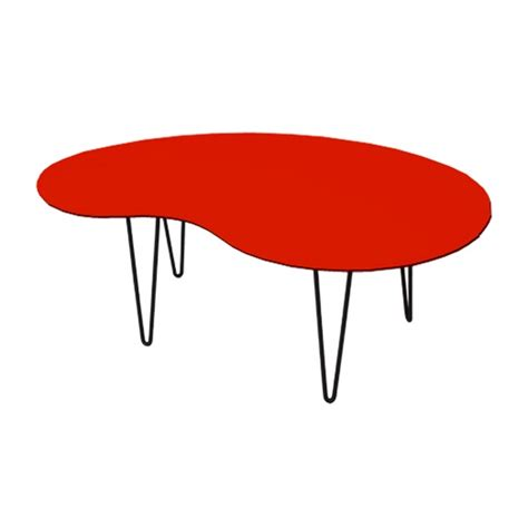 kidney shape kidney shaped coffee table orange for rent formdecor