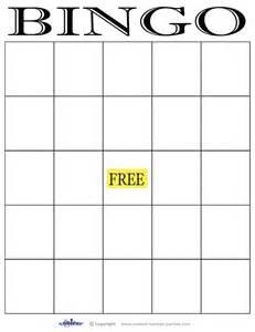 blank bingo cards images