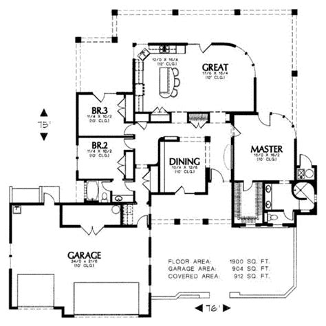 1900 house plans adobe southwestern style house plan 3 beds 2 baths 1900 sq ft plan 4 105