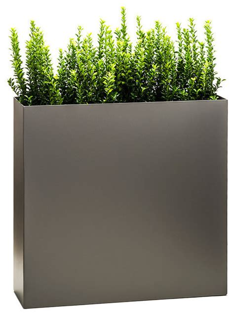 Modern Planter Pots by Partition Tower Planter Pewter Standard Modern
