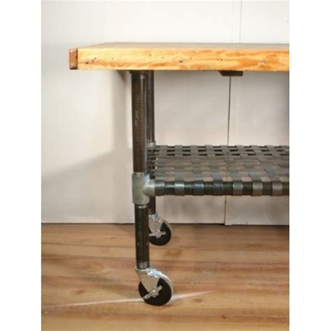 wheeled kitchen island industrial wood and iron wheeled cart kitchen island