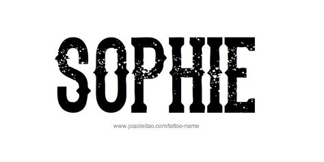 sophie name tattoo designs