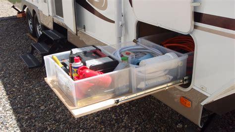 Rv Storage Drawers by Rv Sliding Storage And Cargo Trays Modmyrv
