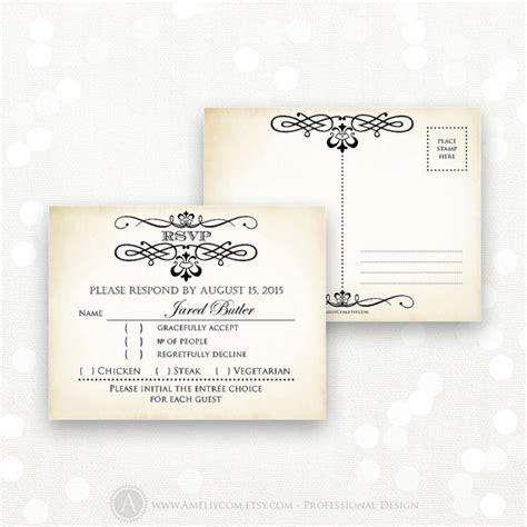 reply card postcard template printable rsvp card editable instant digital diy