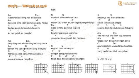 tutorial gitar kita selamanya belajar kunci gitar dan lirik lagu kunci gitar exist