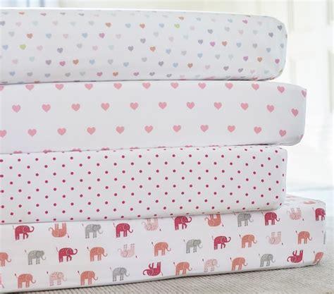 Organic Multi Mini Heart Crib Fitted Sheet Pottery Barn Kids Organic Mini Crib Sheets