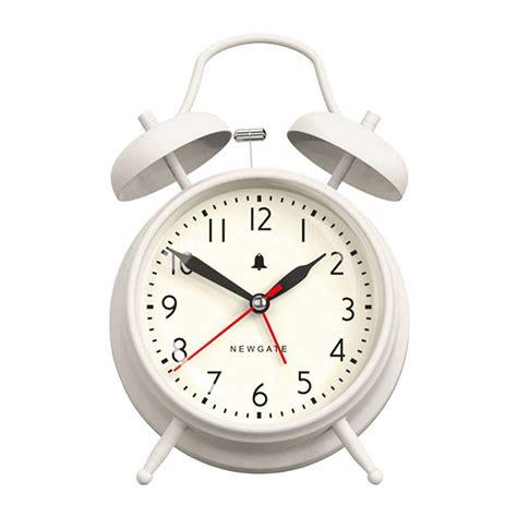 buy newgate clocks the new covent garden alarm clock linen white amara
