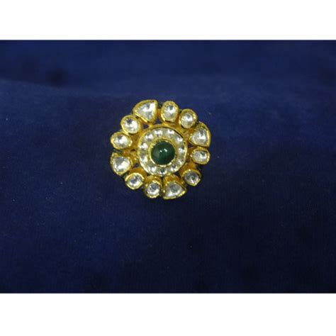 gold kundan rings view specifications details of