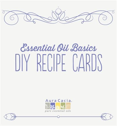 how to make your own recipe cards 17 best images about aromatherapie on