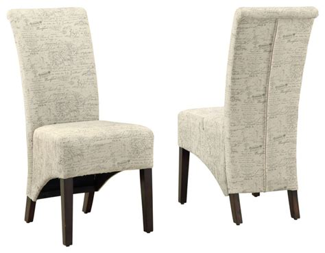 vintage style dining chairs fabric set of 2