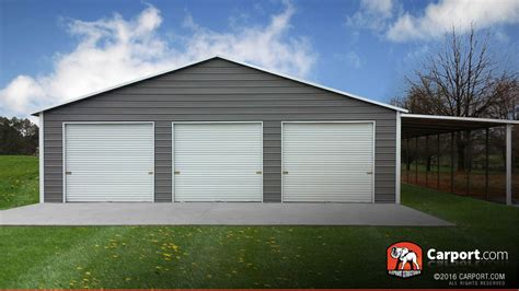 how big is a three car garage large metal steel buildings for sale carport com