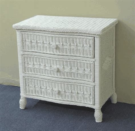 Small Wicker Drawers by 3 Drawer Wicker Dresser Traditional Other