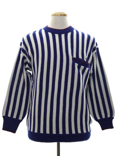 blue pattern stripe hudson hoodie retro 1980 s sweater genesis 80s genesis mens dark