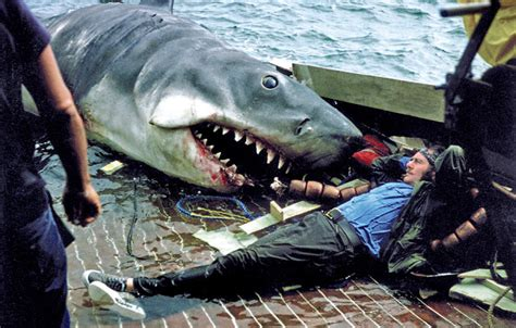 jaws fishing boat scene 10 amazing behind the scenes photos from the making film