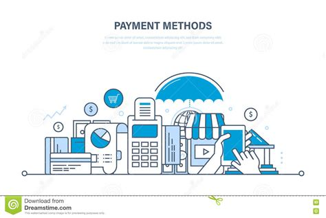 design online transaction payment system payment methods line flat design banner with a male