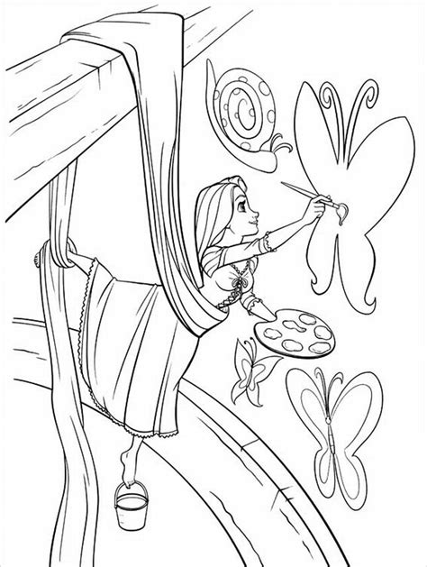 Rapunzel Tangled Coloring Pages free printable tangled coloring pages for