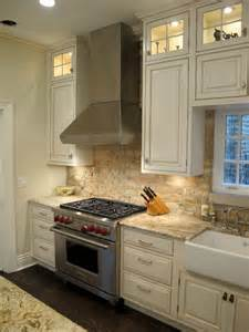 Kitchen With Brick Backsplash Lincoln Park Chicago Kitchen With Brick Backsplash