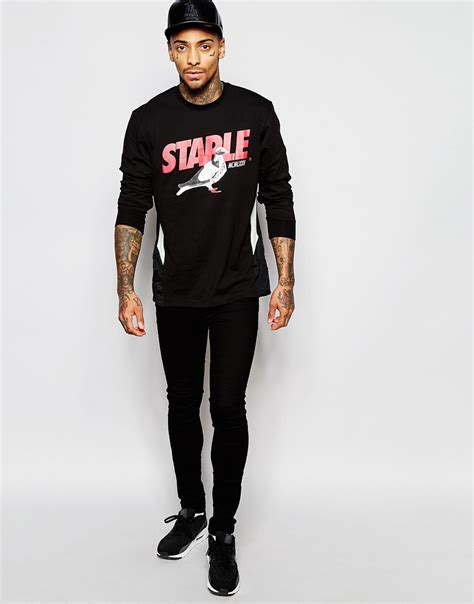 Fashion Find Staple Sweater by Lyst Staple Pigeon Sleeve T Shirt With Large Logo