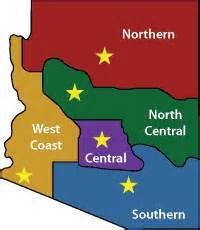 arizona regions map arizona map regions