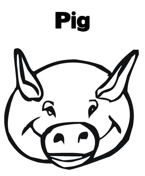 coloring pages of pig faces pig face coloring page coloring home