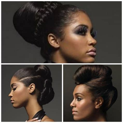 relaxed hair protective styles for high foreheads 17 best images about healthy relaxed hair goals on