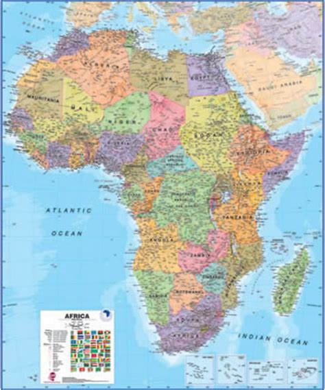 map international large africa wall map political ct014 maps international