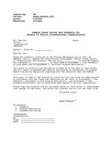 Cover Letter International Organization by Ads Reference 308saa U S Agency For International Development