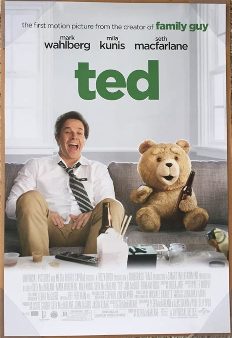 ted movie ted movie poster 2 sided original advance ver b credits