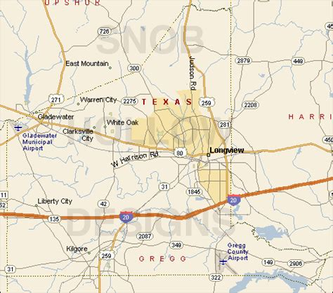 map of gregg county texas gregg county texas color map