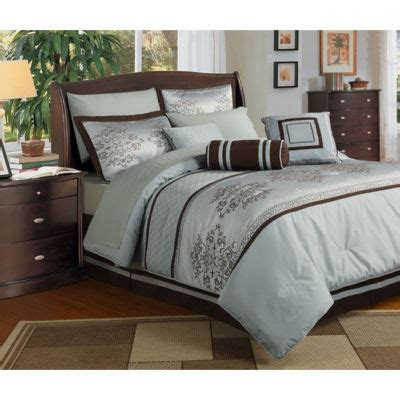 brown queen comforter details about bed in a bag bedding comforter 8 piece blue