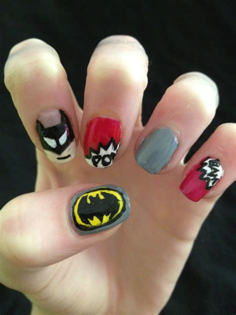 nail art batman tutorial 30 awesome nail polish designs colorlava