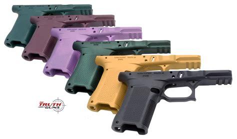 glock frame colors alpha foxtrot releases two glock compatible aluminum