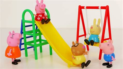 peppa pig swing peppa pig swing and slide playground playset for