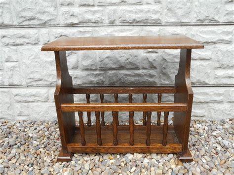oak magazine rack table small oak side table magazine rack in calverton