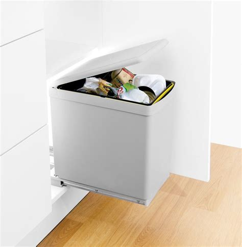 Door Mounted Kitchen Garbage Can With Lid by Waste Bin With Automatic Lid The Contract Bin Is A Floor