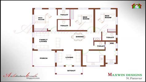 single 4 bedroom house plans unique single floor 4 bedroom house plans kerala