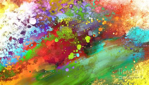paint colorful color explosion abstract art painting by ann powell