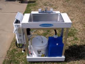 portable sink 3 compartment dish washer for cing