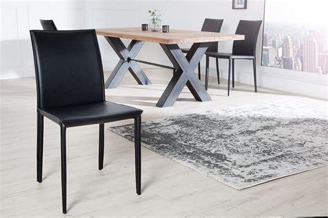 design stuhl leder exklusiver design stuhl echt leder schwarz ziernaht