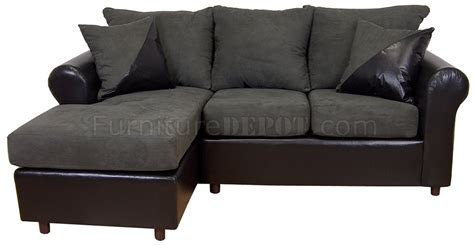 Black Fabric Sectional Sofa Fabric Black Bicast Contemporary Sectional Sofa