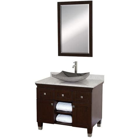 bathroom vanity black marble top wyndham collection premiere 36 in vanity in espresso with