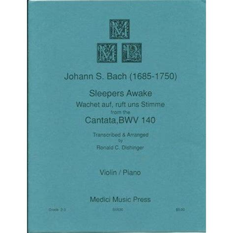 Bach Sleepers by Bach Js Sleepers Awake From Cantata Bwv 140 For